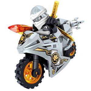 8Stk Ninjago Motorrad Set Minifiguren Ninja Mini Figuren Blöcke Spielzeug Passend für Lego