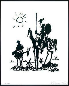 Pablo Picasso Don Quixote Kunstdruck(50x40cm) gerahmt