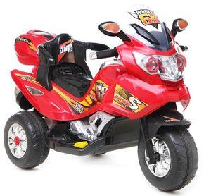 Kindermotorrad Power Trike Race Red Elektromotorrad 12V Kinderfahrzeug elektrisch