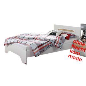 Jugendbett 100*200 cm weiß / sonoma Eiche grau Jugendliege Jugendbett Bettliege Bett Bettgestell Gästezimmer Jugendzimmer
