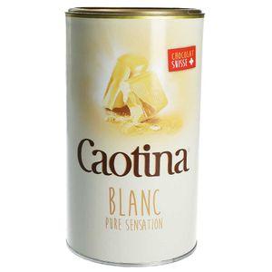 Caotina Getränkepulver mit echter Schweizer weißer Schokolade.