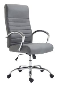 CLP Bürostuhl Valais Kunstleder drehbar und höhenverstellbar, Farbe:grau