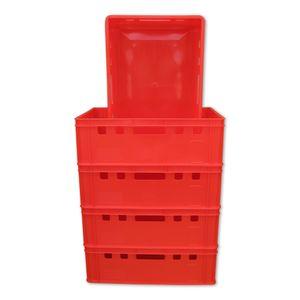 5 Stück E2 Eurofleischkiste Stapelkiste Box Metzgerkiste Stapelbox rot. (5xE2 rot)