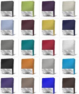 Spannbettlaken Boxspringbett Wasserbett Elasthan Spannbetttuch Bettlaken Elasthan, Größe:140 - 160 x 200 - 220 cm, Farbe:Anthrazit