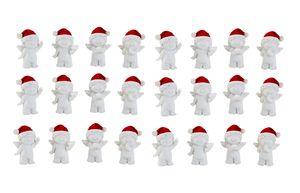 24 Stück Engel mit Nikolausmütze Figur 4 cm Engelfiguren