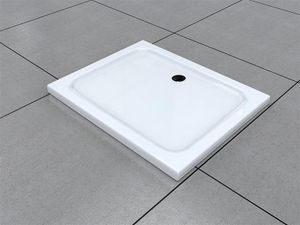 90 x 75 cm Duschtasse Duschwanne Acrylwanne Acryl Brausewanne 5 cm flach