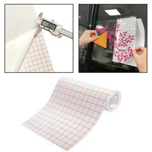 Klare Vinyl Transfer Aufkleber Bandrolle Craft Vinyl Anwendungspapier Bandrollen Orange Grid für Cameo Cricut Kleber für Abziehbilder Schilder Windows