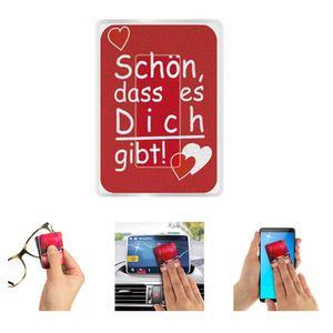 Brillen-Putztuch Wedo, PocketCleaner, klein & kompakt im Kunststoff-Etui, Ausführung:Schön. dass es dich gibt!