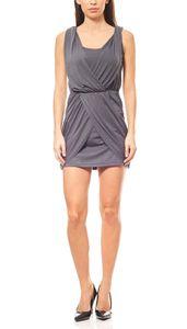 neighborhood Kleid gerafftes Jerseykleid in Lagen-Optik Grau, Größe:38