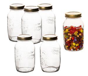 6er Set 1,5 Liter Bormioli Quattro Stagioni Gläser