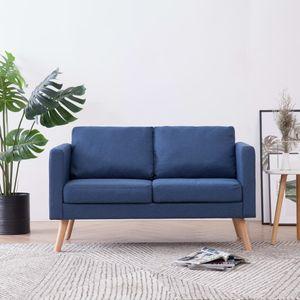 dereoir 2-Sitzer-Sofa Stoff Blau