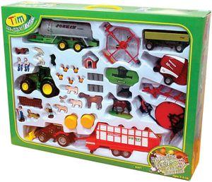 TIM 36001 Jumbo-Bauernofset Traktoren mit Geräten 1:32 Metall