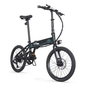 FIIDO D4S 20 Zoll Elektrofahrrad E-Bikes Faltrad, 36V 250W 24km/h, 10,4-Ah-Lithiumbatterie, 80 km Reichweite, 3 Fahrradmodi, Shimano 6-Gang, Faltbar und leicht, FCC & , bis 120 kg