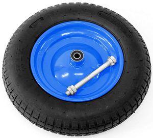 Gummi Rad, 3,25–8, mehrfarbig 3.25/3.00-8 2PR Ersatzreifen für Schubkarre Metallfelge Schubkarrenrad mit Achse