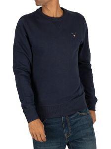 GANT Herren Ursprüngliches Sweatshirt, Blau S