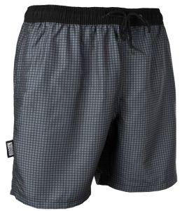 GUGGEN MOUNTAIN Badehose für Herren Schnelltrocknende Badeshorts Style-6 mit Kordelzug Beachshorts Boardshorts Schwimmhose Männer kariert verschiedene Farben Farbe Grau XL