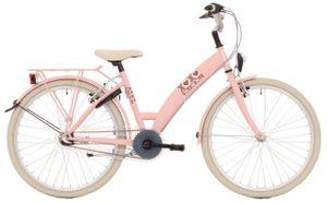 Bike Fun Kinderfahrräder Mädchen Lots of Love 26 Zoll 43 cm Mädchen 3G Felgenbremse Rosa/Weiß