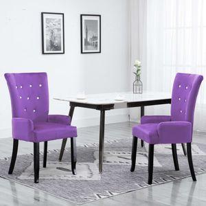 【Neu】Sessel Sessel Violett SamtMöbel-Stühle-Esszimmerstühle im Landhaus-Stil