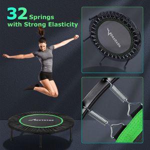 MOVTOTOP 40in Falttrampolin Fitness Round Trampolin Aerobic Cardio-Trainingsgeräte Belastung Bis zu 120 kg (grün)