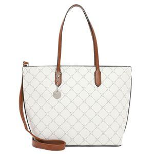 Tamaris Anastasia Shopper mittel Handtasche Schultertasche Handbag 30107, Farbe:Ecru