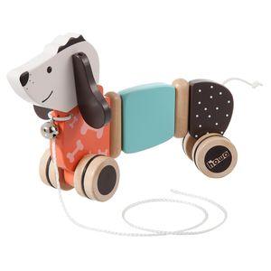 howa Nachziehtier Hund 'Fidi' aus Holz 6015