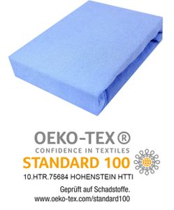 Spannbettlaken Frottee Spannbetttuch mit Gummizug Bettlaken Laken 200x220 cm Himmelblau
