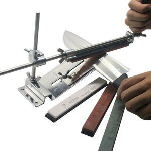 Melario Küche Messerschärfer Messerschleifer Schärf Sharpener Set Fix-Winkel mit 4 Schleifsteinen Professionelle Messerschleifer Messerschärfer mit 4 SCHLEIFSTEIN