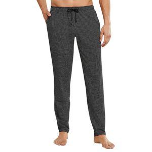 Schiesser Herren lange Schlafanzughose Loungehose Lang - 163840, Größe Herren:52, Farbe:schwarz-gem.