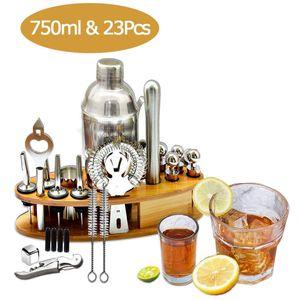 23 Teiliges Edelstahl Cocktail Shaker Bar Set Mixer Making Kit Geschenk Barkeeper Set