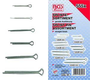 BGS 8048 Splinte-Sortiment, 555-tlg.