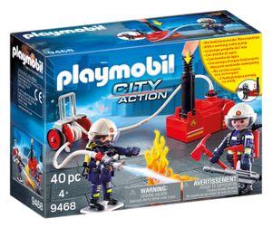 PLAYMOBIL City Action 9468 Feuerwehrmänner mit Löschpumpe