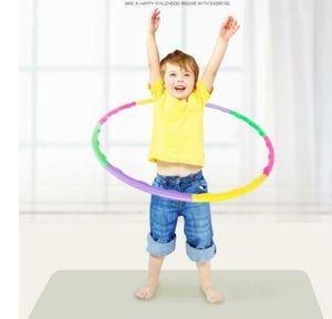 8-teilig Kinder Hula Hoop Fitness Reifen 60cm Hüftmassage Sport Massage Gymnastik