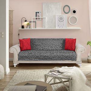 Tagesdecke Möbelschutz Sofaüberwurf / Couchüberwurf Anti-rutsch Sesselschutz Überwürfe Sofa Abdeckung Sofaschutz Couchüberzug Grau