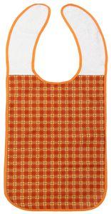 Lätzchen für Erwachsene, 45x90 cm, orange, 100% Polyester mit PolyurethanSchicht
