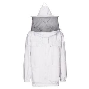 617 - Imkerjacke mit Hut, 3-lagig : weiß 100% Baumwolle (Imker) M