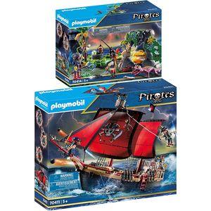 PLAYMOBIL 70411 70414 Pirates 2er Set Totenkopf-Ka