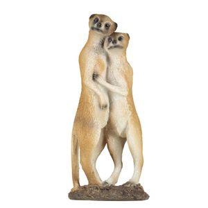 VERDOBA Erdmännchen Paar, aus Polyresin