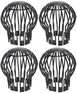 4er Set Dachrinnenverschluss Dachrinnenschutz Verschluss Fallrohr Laub Schutz