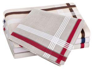 Tobeni 12 Stück Herren Stoff Taschentücher Herrentaschentücher Stofftaschentücher 100% Baumwolle-Satin, Farbe:Design 32, Grösse:41 cm x 41 cm