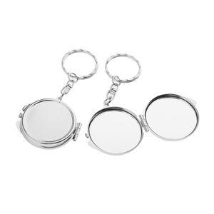 Reise Make-up Schminkspiegel Kompaktspiegel Reisen Taschenspiegel (2 Stück Silber wie beschrieben Runde Form