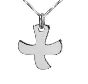 Kreuz-Anhänger mit Kette Taize-Kreuz für Damen, Herren und Kinder als Ketten-Anhänger mit Kette 925 Silber mit Schmuck-Etui