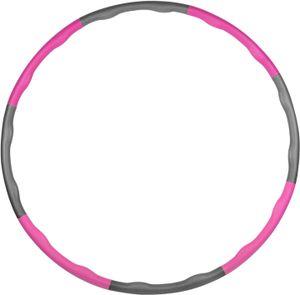 Hula Hoop-Serie zur Gewichtsreduktion,Reifen mit Schaumstoff 1.2kg Gewichten beschwerter Hula-Hoop-Reifen für Fitness