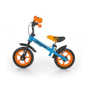 Milly Mally Laufräder 2 Räder loopfiets Dragon met rem 10 Zoll Junior Blau/Orange