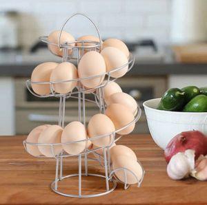 Metall Eierhalter Spirale Ei Halter Rack Eierständer Spirale Küche 22 Eier