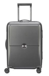 Delsey Turenne 4-Rollen Kabinen Trolley Koffer 2,1kg 55cm 00 1621 803, Farbe:Silber