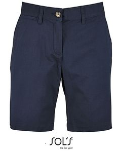 SOLS Damen Shorts Chino Bermuda Jasper 02762 Blau French Navy 38