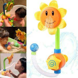 Baby Kinder Sonnenblume Wasserspielzeug Badewanne Bad Spielzeug Wasser Dusche Spielzeug