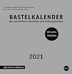 Bastelkalender 2021 silber, groß