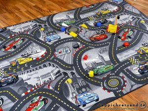 Spiel Kinderteppich Disney Cars Grau, Größe:160x200 cm