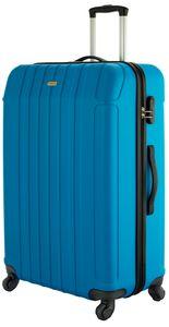 Cahoon Koffer Trolley / L - 104 Liter / Reisekoffer Hartschale 4-Rollen - Farbe: blau
